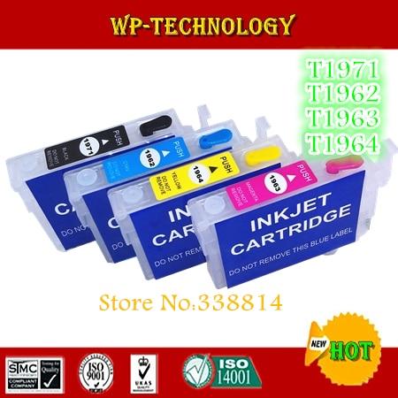 Пустой Заправляемый картридж для Epson Expression XP-201/XP-204/XP-214/XP-401, с чипом ARC, T1971, T1962 T1963 T1964 series