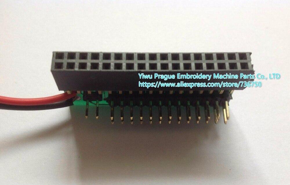 Convertidor de emulador USB convertir 34 pines a 26 pines para Tajima TMEX TMFX etc. Piezas de repuesto para máquina de coser store 736750 Prague