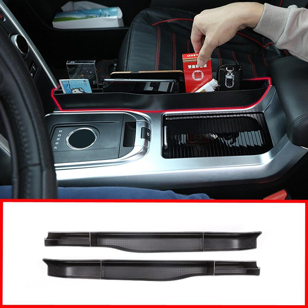 Accesorios de coche, caja de almacenamiento multifunción lateral de Control Central Interior, bandeja de tarjeta de teléfono para Land Rover Discovery Sport 2015-2019