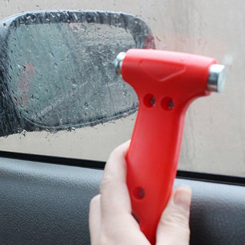 Mini martillo de seguridad de coche 2 en 1, cuchillo de corte de martillo de Escape salvavidas, herramienta múltiple para ventana rota de coche, interruptor de vidrio de emergencia