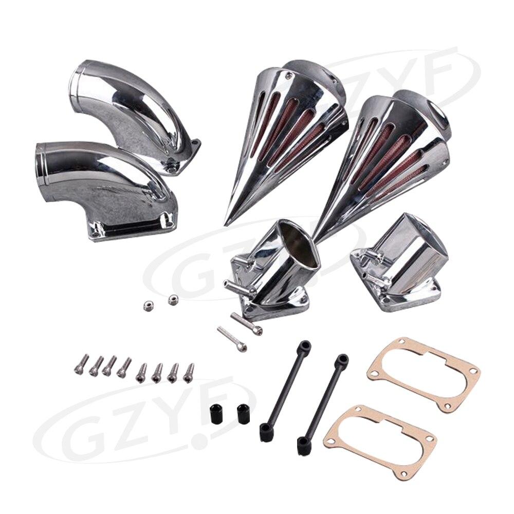 Moto Spike Filtre À Air Filtre Kit Dadmission Pour Suzuki M109R Boulevard 2006 2007 2008 2009 2010 2011 2012 Argent