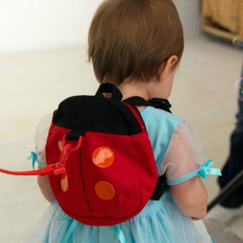 Детский рюкзак для переноски с защитой от потери, многофункциональный прогулочный ремень для детей ясельного возраста, милая Регулируемая безопасная сумка с божьей коровкой