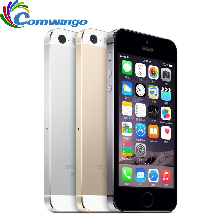 Desbloqueado Apple iPhone 5S GB/16GB/32GB / 64GB ROM teléfono IOS blanco negro oro GPS GPRS A7 IPS LTE teléfono móvil Iphone5s
