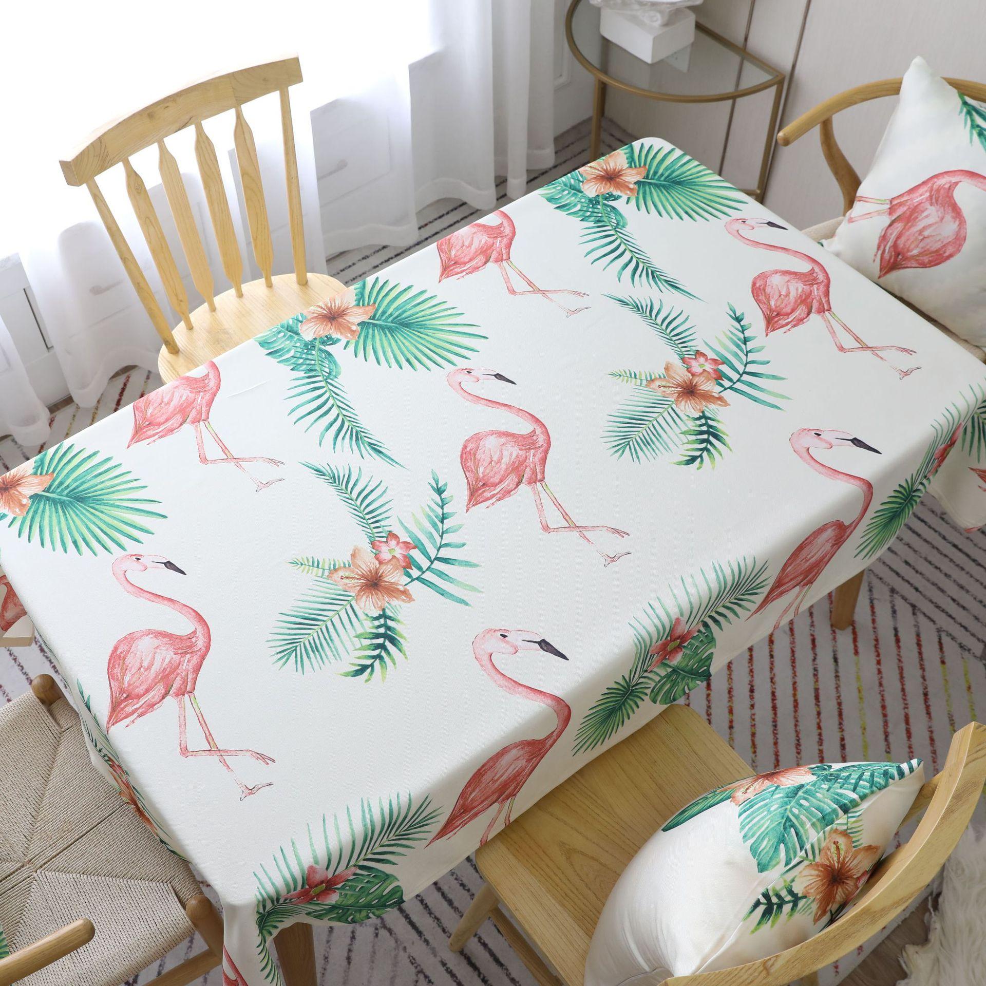 Mantel de mesa de Cactus de flamenco nórdico, mantel grueso Rectangular de café, mantel de gran oferta de 140x220cm, mantel para mesa