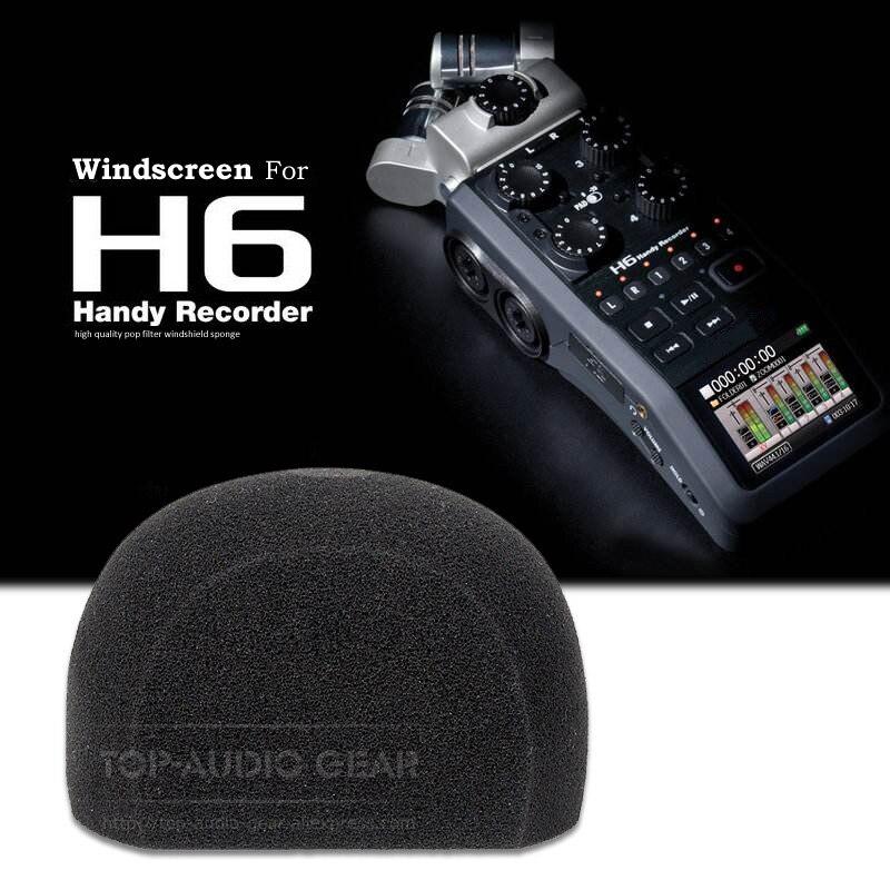 Qualidade superior windscreen microfone espuma esponja capa pop filtro para zoom h 6 h6 XYH-6 handy gravador microfono mic brisa
