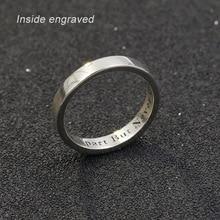 Personnalisé personnalisé nom anneau femmes 925 solide argent bague de fiançailles personnalisé nom anneau de mariage femme mâle
