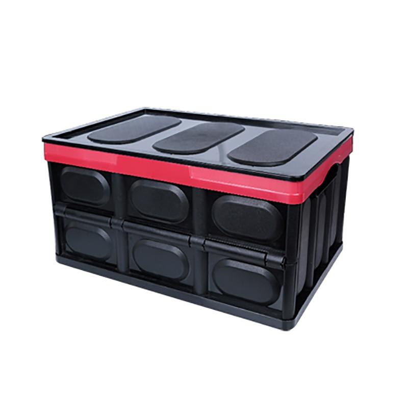Gran oferta 28L caja de almacenamiento de ropa de hogar organizador de coche caja de almacenamiento de tronco caja plegable de gran capacidad bolsa de almacenamiento con tapa