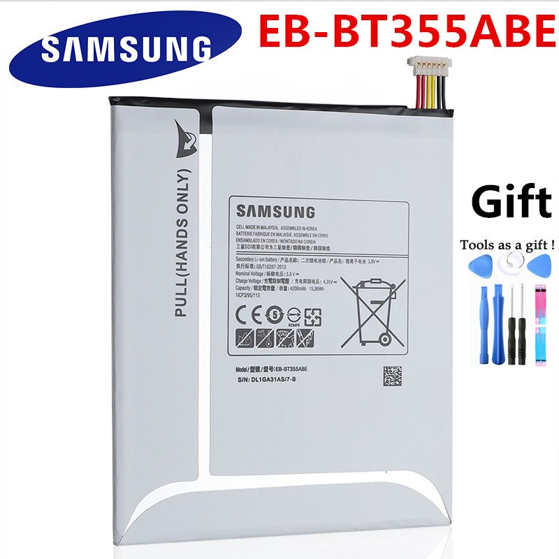 Original Samsung Tablet Battery For Samsung GALAXY Tab A 8.0 T355C EB-BT355ABE GALAXY Tab5 SM-T355 T350 SM-P350 P355C T357W