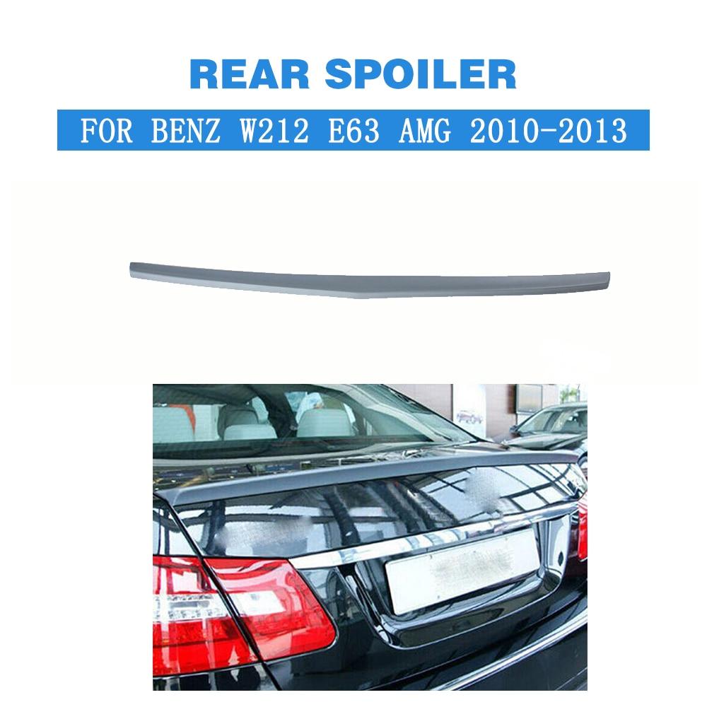 Alerón trasero, alerón adhesivo para maletero, alas para Mercedes Benz Clase E W212 E250 E350 E550 E300 E63 AMG 2010-2013, PU gris sin pintar