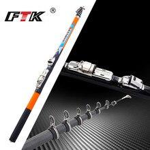 FTK 1.5M-2.7M Super dur carbone filature canne à pêche glace canne à pêche roche canne à pêche télescopique mer pôle bâton