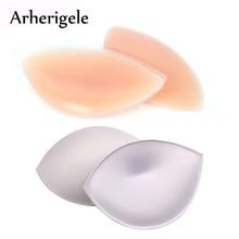 Arherigele 2pair Sexy Silicone Push Up Bra Pad Insert Breast Enhancer Bikini Swimsuit Sponge Pads Removeable Bra Pad Accessories