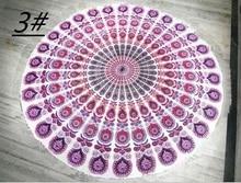 Décorations de mariage noël fête   Nappe de table ronde imprimée en coton, canette pour serviettes de bain, tapis de pique-nique vintage de yoga, décoration murale