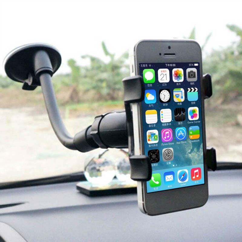 1 pçs rotação do carro suporte de montagem do telefone espelho retrovisor preto para celular dashboard gps suporte do carro montagem