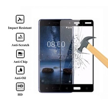 For Nokia 8 (2017) Tempered Glass Full Cover Tempered Glass For Nokia8 (2017 Version) Screen Protect