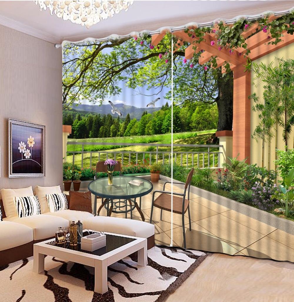 Занавеска С 3D рисунком на заказ занавеска для спальни балкона журнального