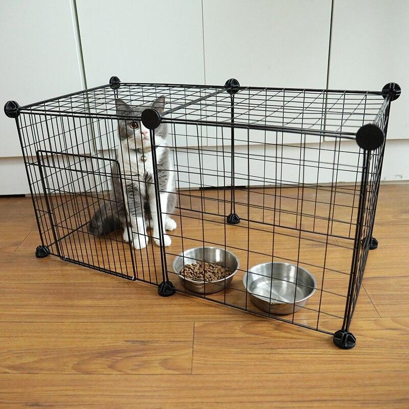Corralito plegable para mascotas cerca de hierro casa para cachorros gato casa para gatos habitación para gatitos 12/10/8/6 Uds