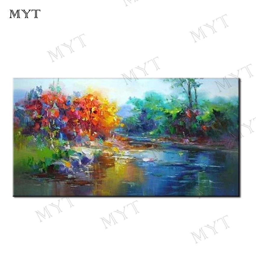 MYT, envío gratis, pintura moderna pintada a mano, pintura al óleo sobre lienzo, arte de pared, arte decorativo de hogar, imagen para el hogar