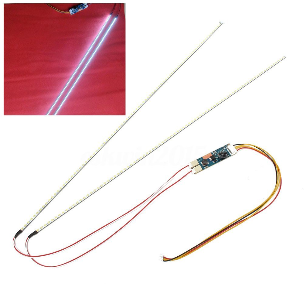 New Hot White Adjustable Backlight Upgrade Kit LED Light Monitor LED Bulb Tube 17inch 19inch 22inch 490MM Drop Shopping