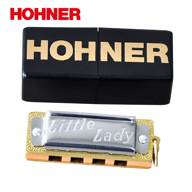 Hohner 39bx pequena senhora mini gaita diatônica, chave de c