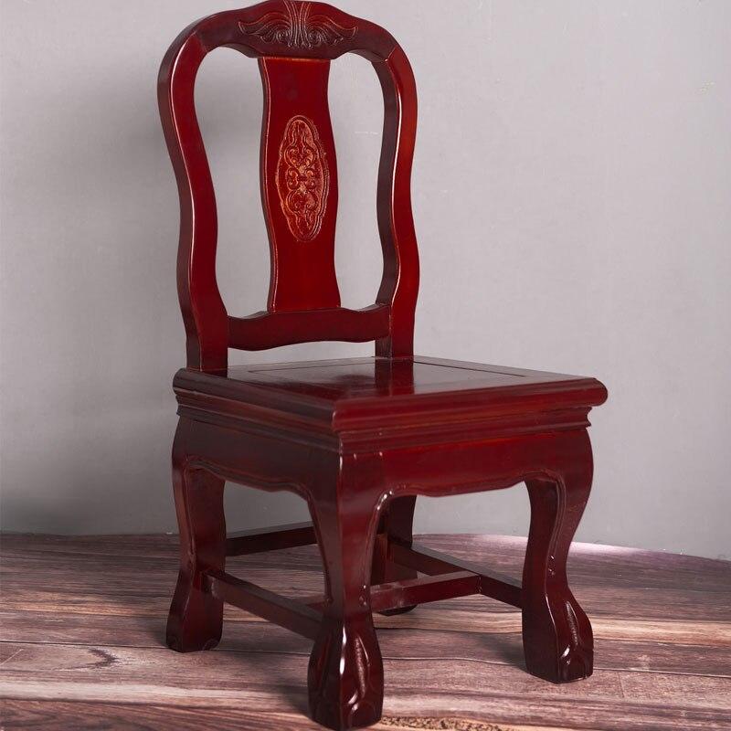 Китайский стул из массива дерева тигровый маленький низкий скамейка со спинкой