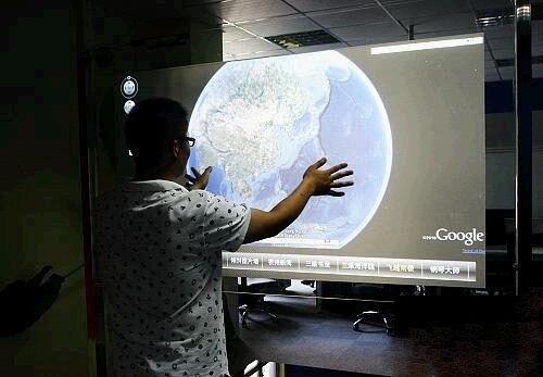 فيلم لمس تفاعلي شفاف 42 بوصة ، 6 نقاط ، خلفية جانبية usb