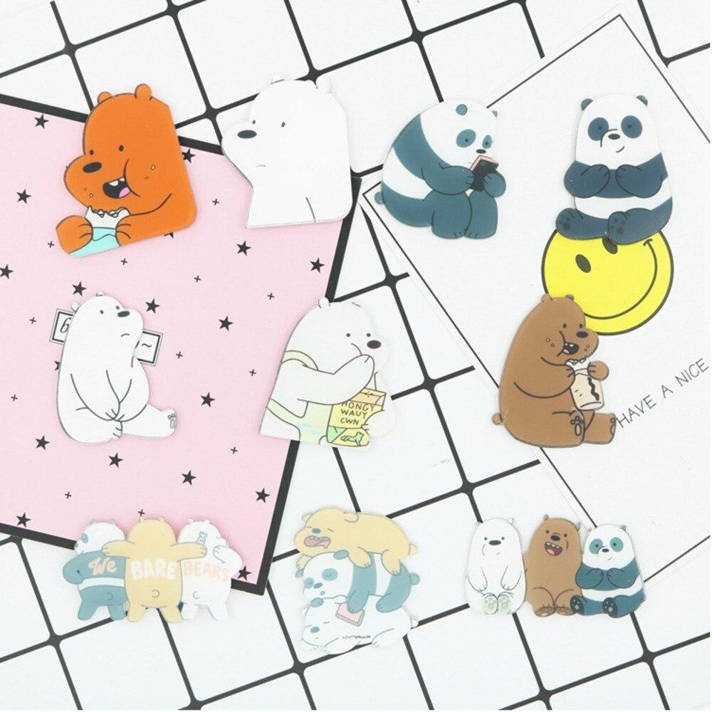 PGY 1PCS Animal Cartoon Pin Bears Cute Grizzly Panda Ice Bear denim  Kawaii Lapel Brooches wholesale badges Fashion Gifts