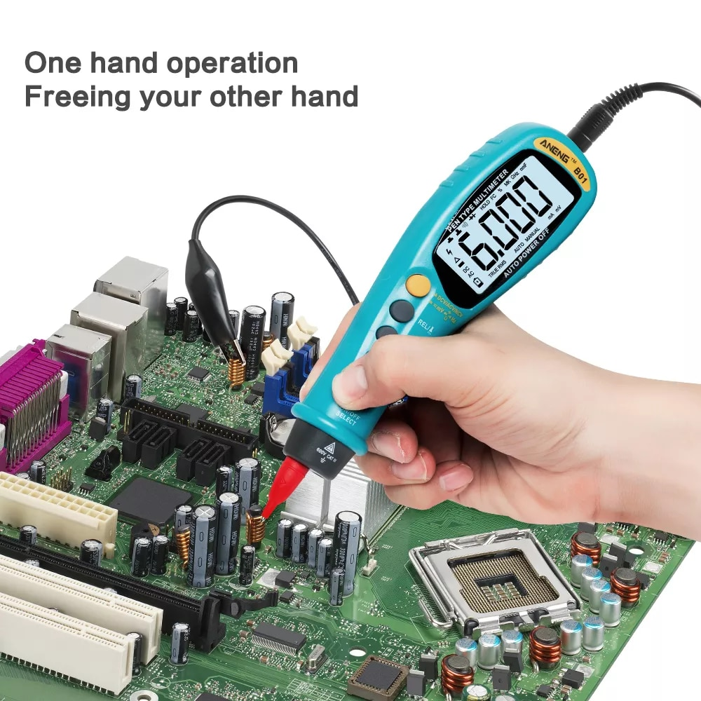 B01 עט סוג דיגיטלי מודד אוטומטי צלצל אמיתי RMS NCV AC/DC מתח אלקטרוני מד עומס יתר הגנה