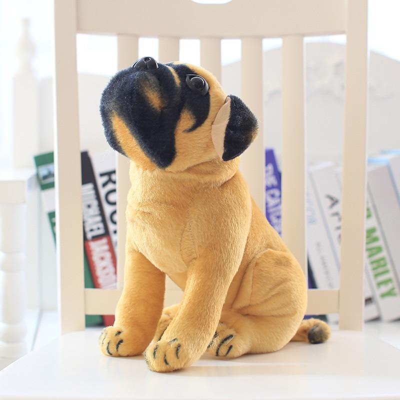 Cartoon simulation plush toys Pugs dog plush toys kids toys puppy doll christmas gift
