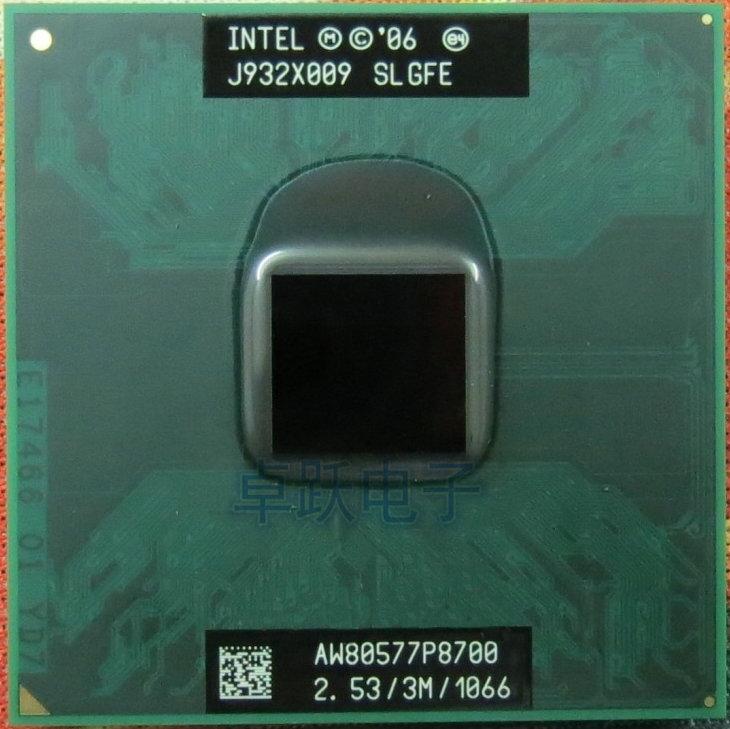 Процессор Core 2 Duo для мобильных телефонов, двухъядерный процессор Intel P8700, 2,53 ГГц, 3 м, 1066 МГц, разъем 478