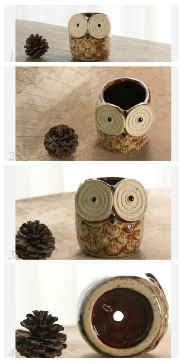 Best friend owl planter silicone mold 3d Classic owl flower pots cute animals dizziness owl shape cement clay mould