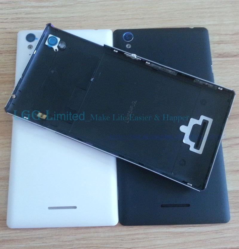 Para sony xperia t3 capa traseira da bateria d5102 d5103 d5106 m50w capa traseira do telefone móvel caso real t3 bateria porta habitação