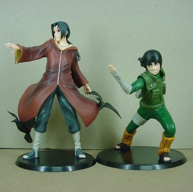 Naruto Rock Lee y Uchiha Itachi 2 unids/set Brinquedos Anime PVC figura de acción de colección modelo de juguete KT3407