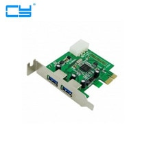 Super vitesse 2 Ports USB 3.0 PCI-E Express Interface carte profil bas demi-hauteur