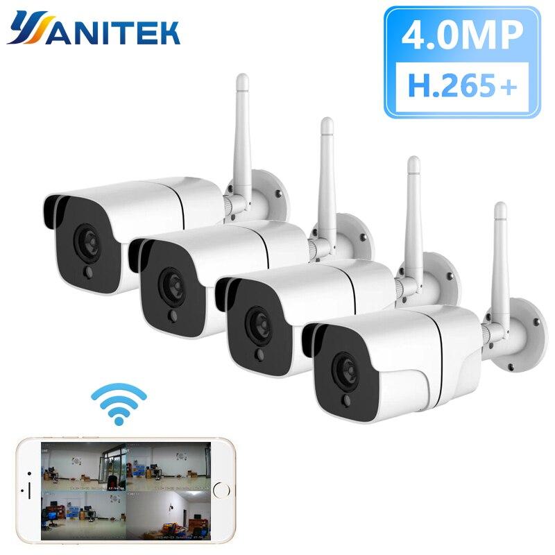 Sistema de cámaras de seguridad IP inalámbrico, kit de 4 cámaras de...