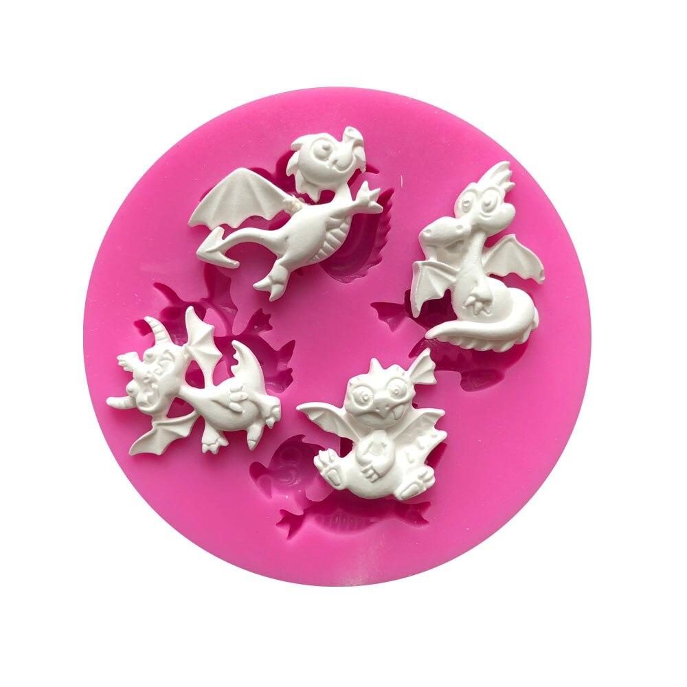 Маленький динозавр монстр серии формы силиконовые формы помадка торт плесень инструмент для шоколадной помадки K008