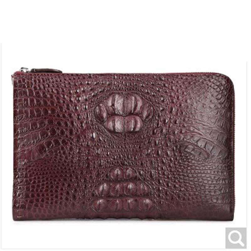 fasiqi new arrival crocodile leather  Men hand bag  hand grab bag  thin envelope bag  business men clutch bag