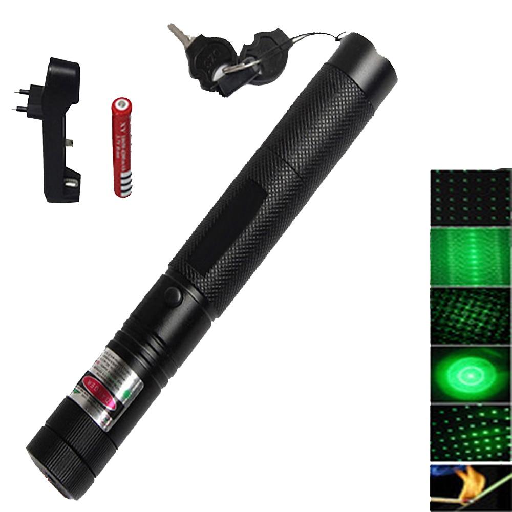 High Power Militär Burning Mächtige Grüne Laserpointer laser anblick 5000m 532nm lazer stift Fokussierbar Brennen Spiel