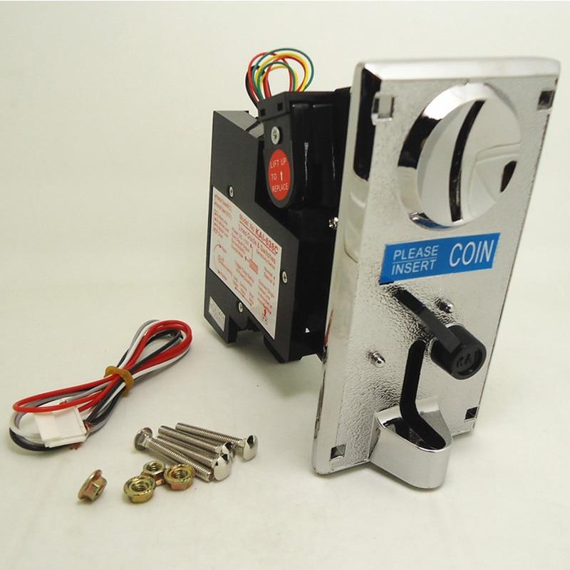 KAI-638C de aleación de Zinc, Panel frontal, receptor de una moneda, Selector de moneda, Token Coin Mech para Arcade, kiosco, juego, gabinete, máquina expendedora