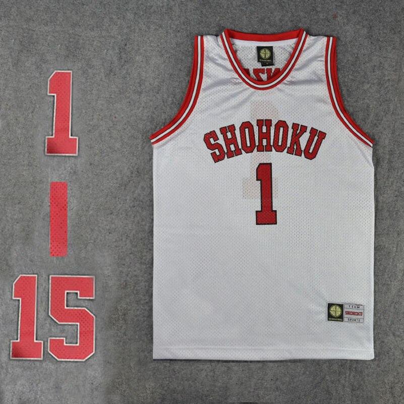 Camiseta de equipo de baloncesto escolar Shohoku, camiseta 1-15, uniforme deportivo Sakuragi Hanamichi, disfraz de SLAM DUNK, talla M L XL XXL