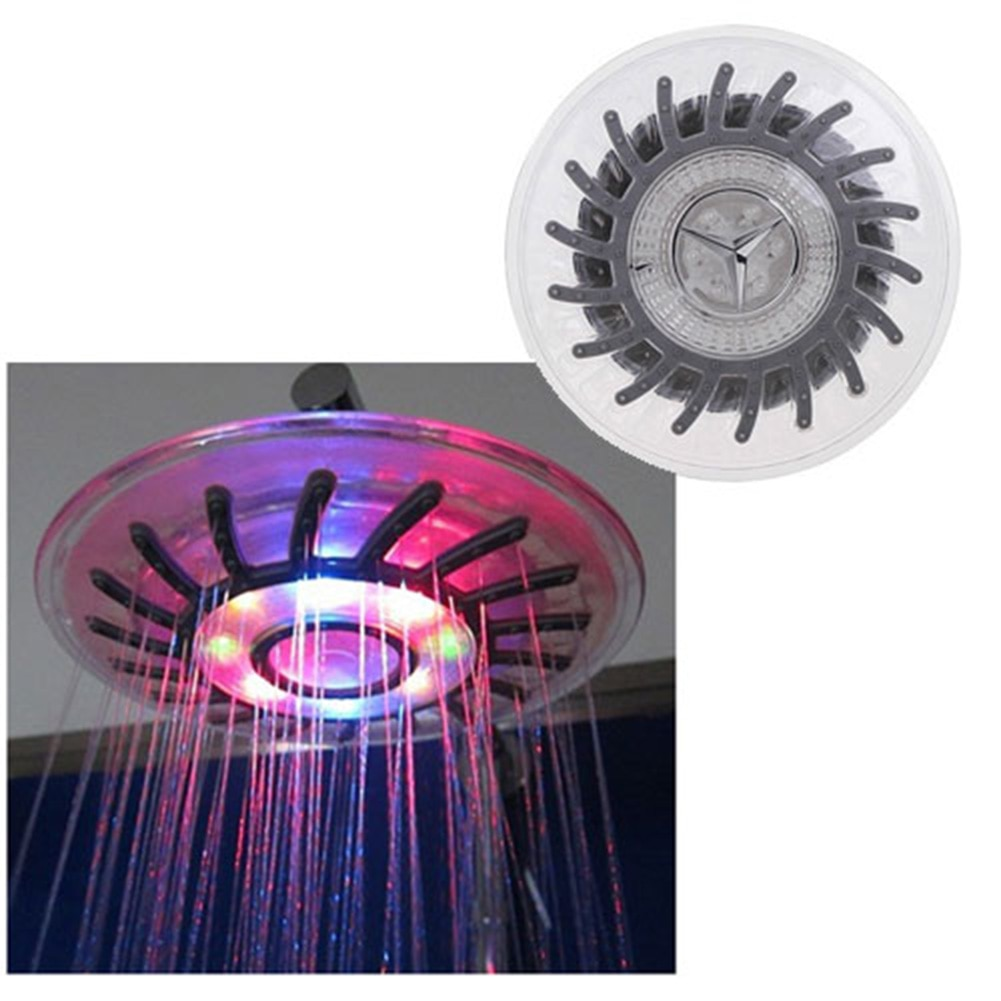 baby shower head colorful LED Shower Sprinkler Head Bathroom rain shower Sanitary Ware Suite Bath chuveiro do banheiro AA