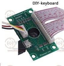 DIY teclado PCB 14 teclas teclado de la computadora a Jamma USB adaptador personalizado botones configuración USB codificador con cables Cable para juego de PC
