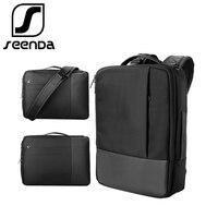 SeenDa Waterproof Laptop Bag for Macbook Air Pro Dell HP Notebook Backpack for Men Women Handbag Shoulder Bag for 13.3-17 inch