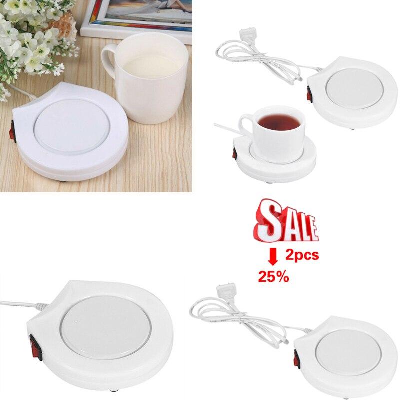 2 pçs portátil usb mesa elétrica placemats coaster manter bebida aquecedor quente para mais quente bebida caneca de chá copos de café esteira