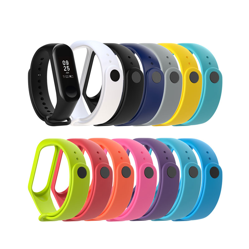Para Xiaomi Mi band 3 correa de muñeca correa de repuesto silicona colorida pulsera Mi Band 3 pulsera inteligente para Xiaomi Accesorios