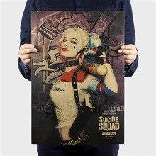 Suicide Squad Margot Robbie Harley Quinn Pellicola di Poster d'epoca Complementi Arredo Casa Pittura Classica stampe