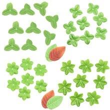 20g feuille de soie en forme de Rose artificielle vive feuille feuilles vertes pour mariage bricolage guirlande décoration noël merci donnant des fournitures