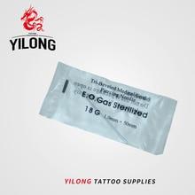 YILONG nouvelle mode Unique stérilisé tatouage Piercing cathéter aiguilles stérilisées outil corps Piercing 18G avec boîte pas cher 100 pièces