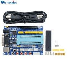 1 ensemble carte de développement de PIC USB PIC16F877A 12V DC JTAG Module de microcontrôleur système Minimum MAX3232 fai IO ICSP émulateur de programme