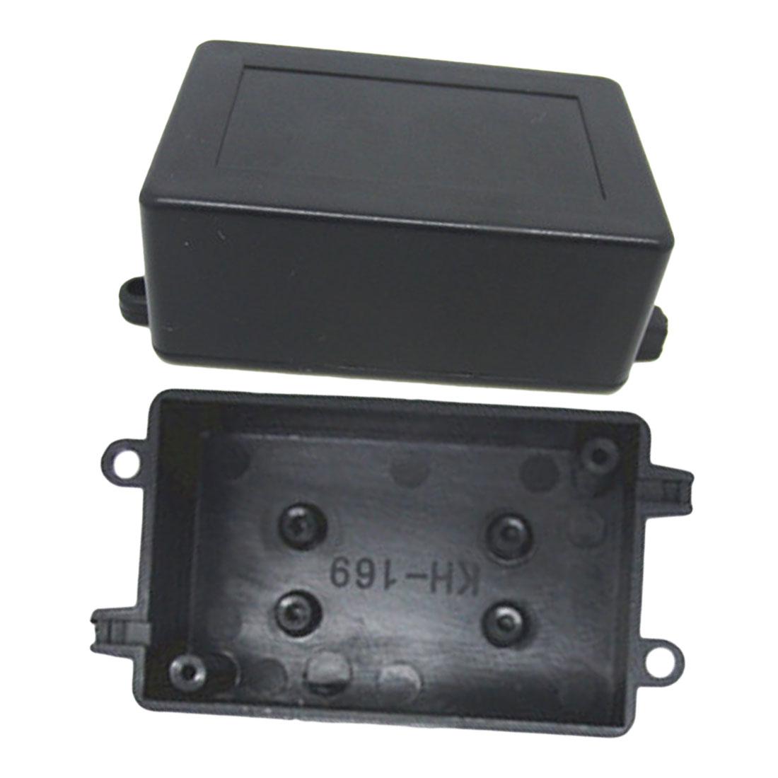 Caja de instrumentos negra de 70x45x30 MM, caja de Proyecto de caja electrónica de plástico impermeable