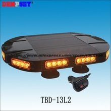 Mini barre lumineuse à/DC12 ou 24V   Barre lumineuse davertissement ambre/support magnétique, mini barre lumineuse clignotante,